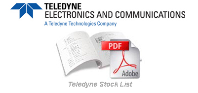 Teledyne Stock List03